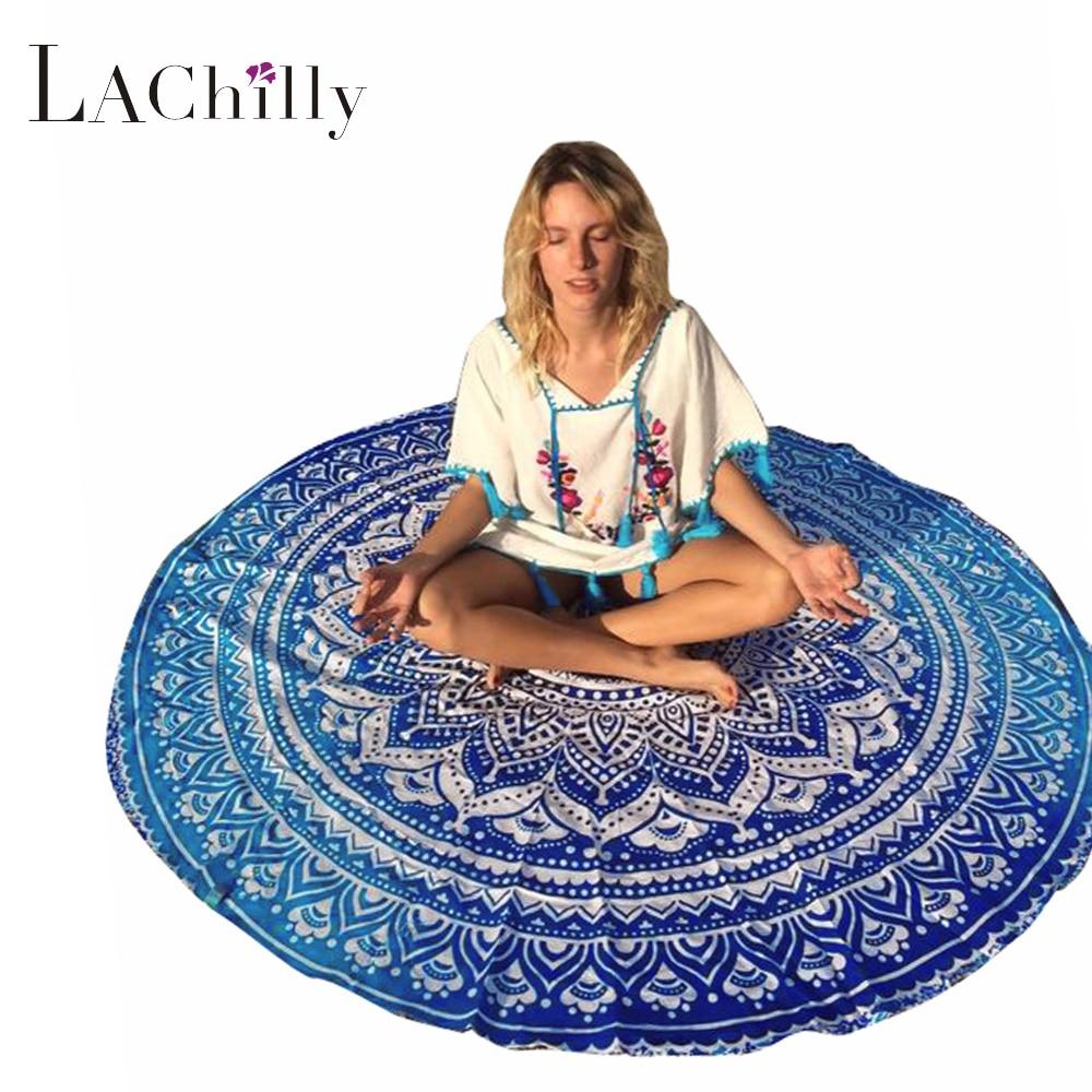 ADVENTURE TIME Store Ocean Bohemia Round Beach Towel Dorm Mandala Tapestry Indian Mandala Table Cloth yoga mat blanket for summer camping LC42056