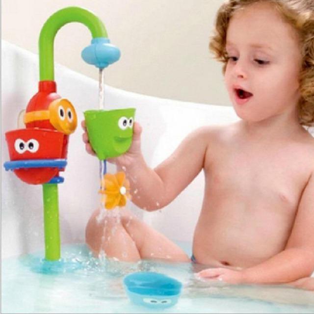 Flow 'n' rellene caño baño juguetes lovely baby aprendizaje divertido play baño conjunto de juguete