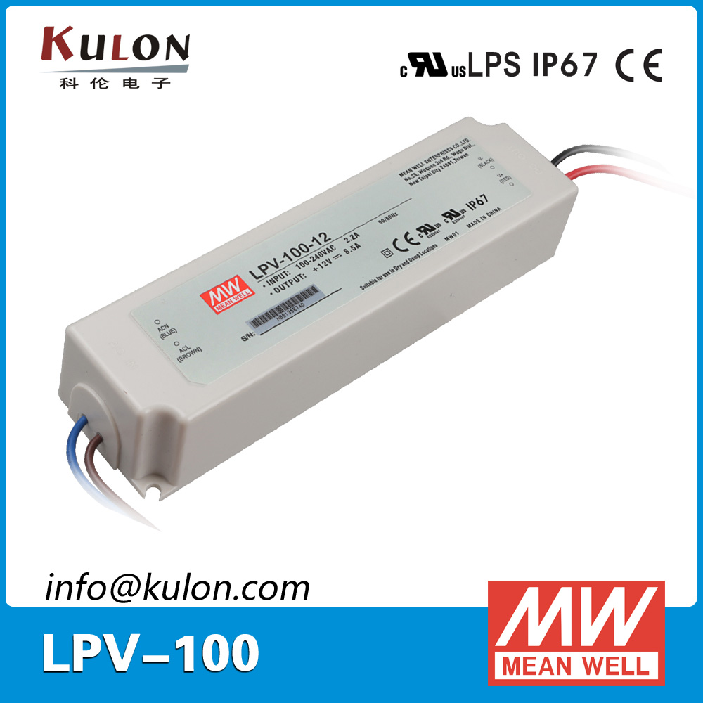 Original Mean well LPV-100-12 AC/DC led driver Single output 100W 12V 8.5A power supply mean well waterproof led power supply lpv series 100w single output led power supply 5v 12v 24vdc 100w switching power supply