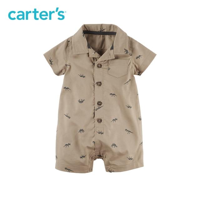 1pcs handsome dinosaur print Cotton Polo Romper Carter's baby boy Summer jumpsuit clothing 118H011