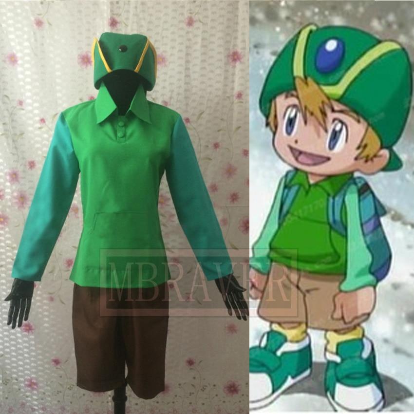 Digimon Adventure T.K. Takaishi Takeru Takaishi Cosplay Costume Tailor made