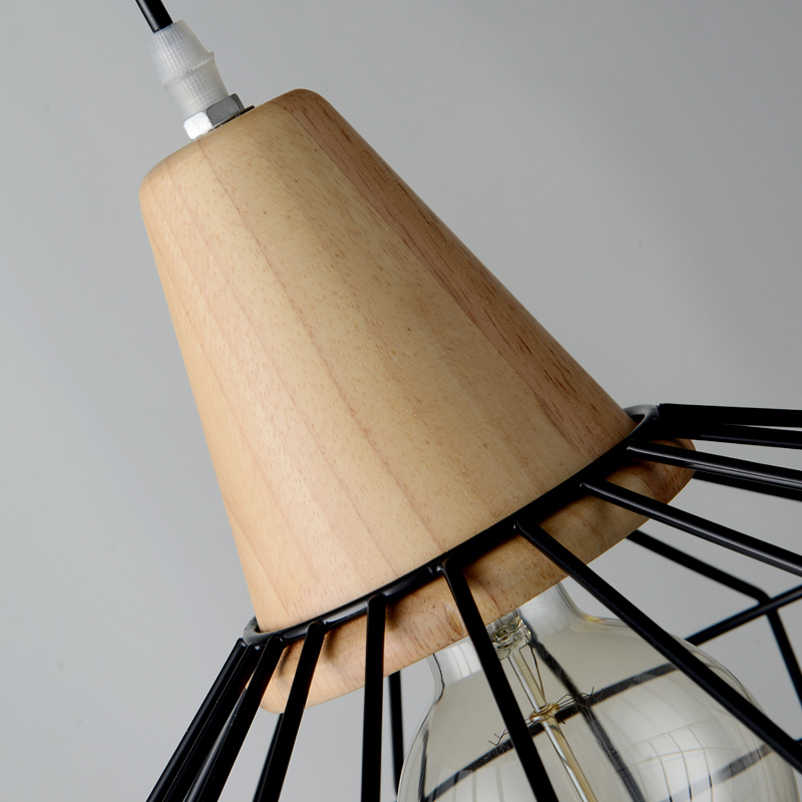 Люстра для зала Ресторан обеденная гостиная проход кафе свет ретро книги по искусству имитация деревянный железный клетка фар подвесной светильник