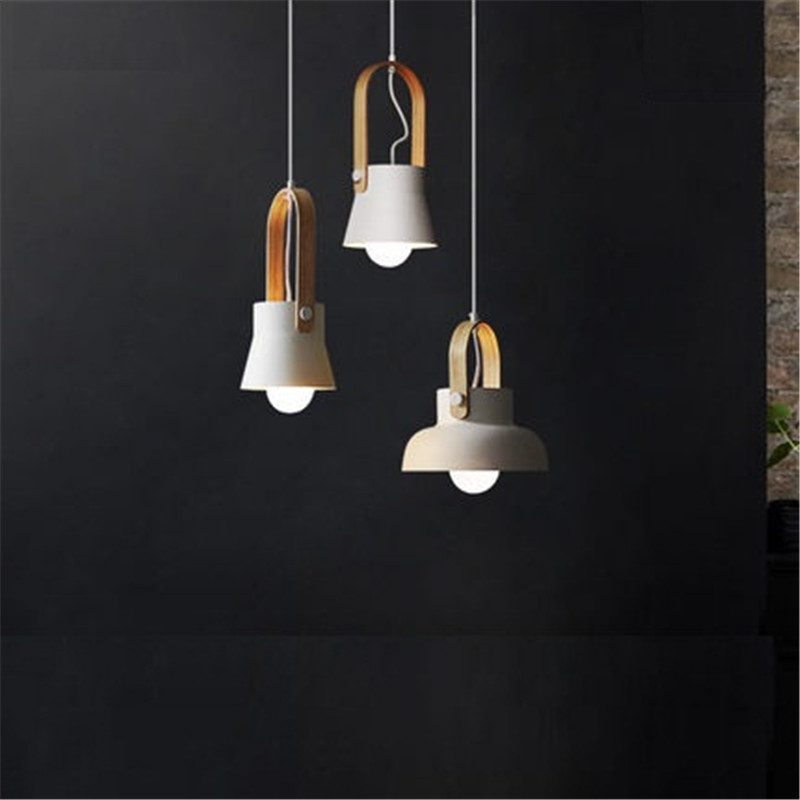 Nordic Loft Style Iron Droplight Modern LED Pendant Light Fixtures For Dining Room Simple Hanging Lamp Home Indoor Lighting