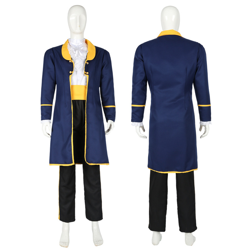 Beauty and the Beast Prince Adam Adult Cosplay Costume Full Set Uniform Halloween Party Suits For Men