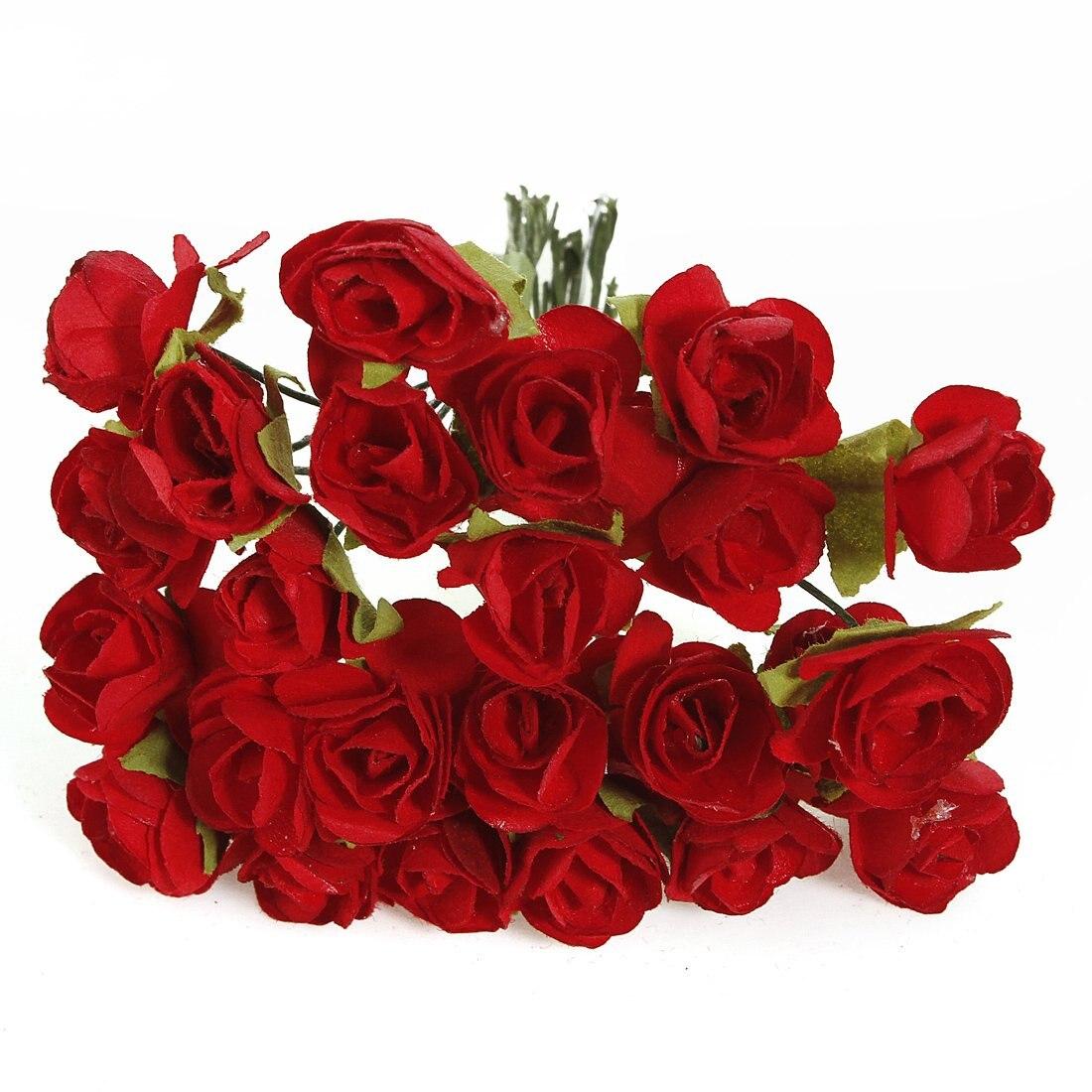 Fjs 144 Rouge Rose Artificielle Fleur Nl Papier Decoratie Maison