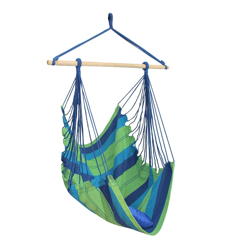 SGODDE Blue Hanging Rope Swing Chair Seat Hammock With 2 Mats Outdoor Garden Camping Adult Child Hanging Chair Hot Sale hammock hanging belt tree strap nylon rope outdoor camping tool with buckles store 207