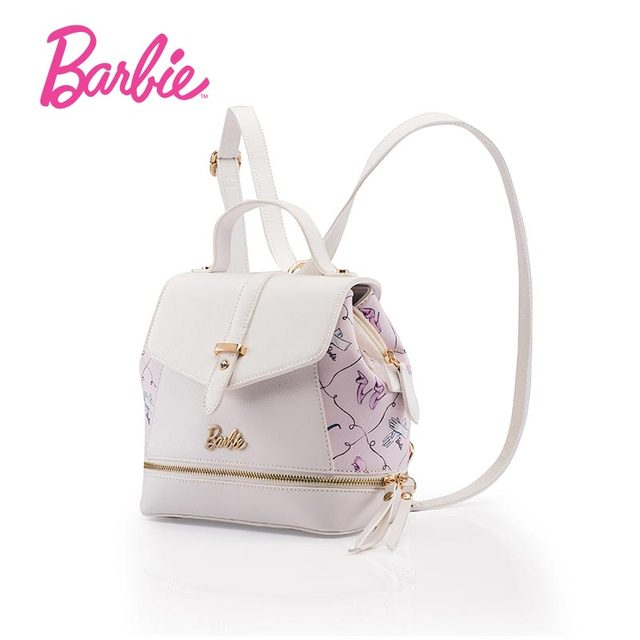 72d98188a1fb Barbie cut Women Leather Backpack Brand bags Students Schoolbag for Teenage  Girls Backpack Solid Travel Back bag