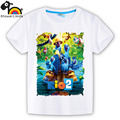 Cotton short sleeve children t shirts,cute cartoon,game boys girls t-shirt figure kids Rio Adventure blue bird new showerlikids