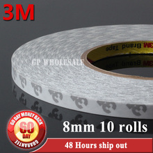 10x 8mm*50 meters Length 3M 9080 2 Faces Sticky Tape, for Phone, PC, DVD, Auto Case, LED, LCD, Common Electric Adhesive