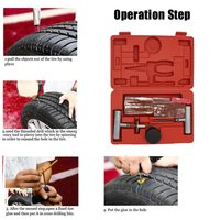 57Pcs Tire Repair Kit Flat Tire Repair for Car Truck Motorcycle Home Plug Patch For Tesla Model 3 Bmw Ford Volkswagen Audi