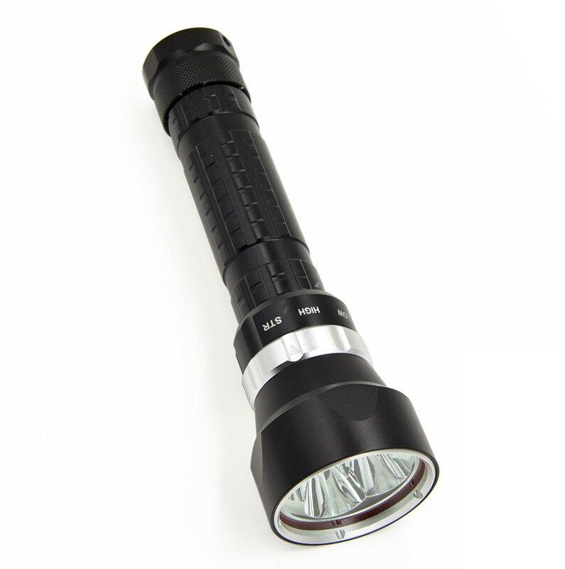 Led lampe de poche 6000 Lumens 4 * CREE xm - l2 100 - mode M LED plongée sous - marine lampe sous - marine chasse torche Flash Light livraison gratuite