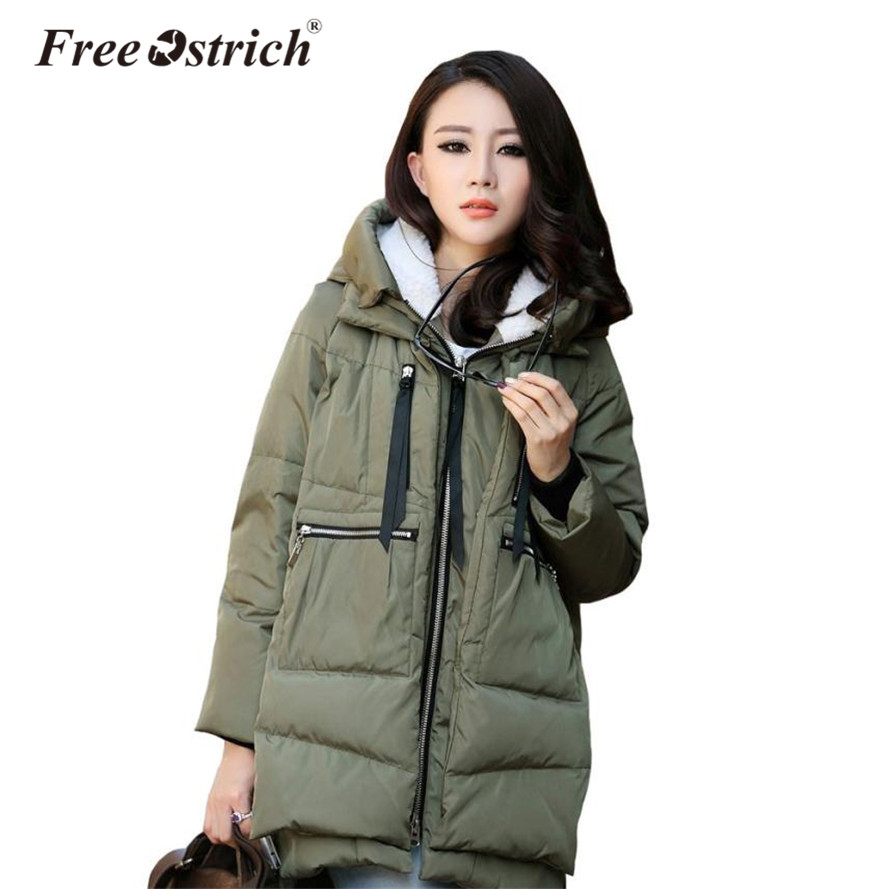 Free Ostrich Thick Warm Hooded Long   Parkas   Women Jacket Winter Coat Padded Jacket Woman Winter Jacket Coat Female New 2019 N30