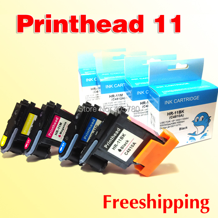 4pcs excellent print head compatible for hp 11 replacement for hp 11 Designjet 70 100 110 500 510 500PS printer