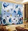 Unterwasser welt Fenster Blackout 3D Vorhänge wohnzimmer Büro Hotel Home Wand Dekorative 3d Stereoskopischen Cortinas-in Vorhänge aus Heim und Garten bei