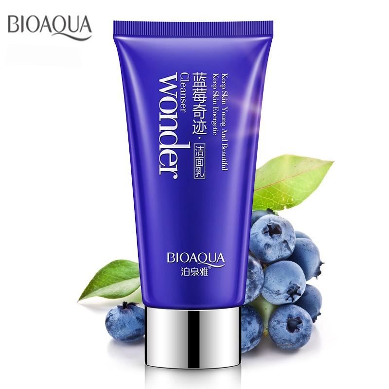 Bioaqua Brand Blueberry Cleanser Nourishing Foam Moisturizing Whitening Anti-Spots Marks Deep Clean Cosmetics