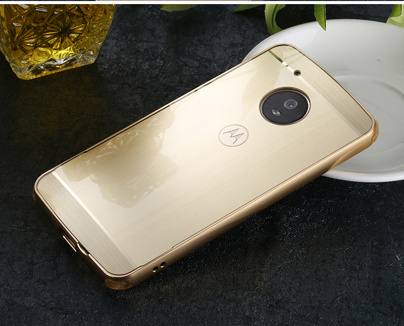 US $9 12 14% OFF|For Motorola Moto G5 / G5 Plus Case Luxury Metal Frame PC  Brushed Backpanel Silicone Corner Pad Protective Cover Phone Shell-in