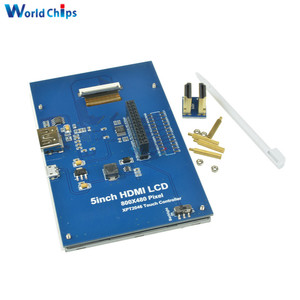"Image 4 - 5 Inch 800X480 Touch Lcd Scherm Hdmi 5 ""Tft Lcd scherm Shield Module Voor Raspberry Pi pi2 Model B + Een + Hot Top Sale"