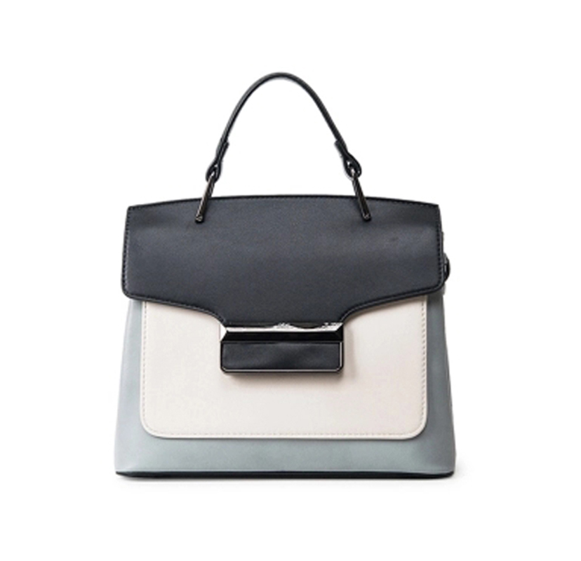 Bag 2018 spring and summer new female handbag simple hit color small square package commuter shoulder Messenger bag tide z830 europe and the new spring and summer leather handbag bag simple cross head layer cowhide temperament mini bag tote bag