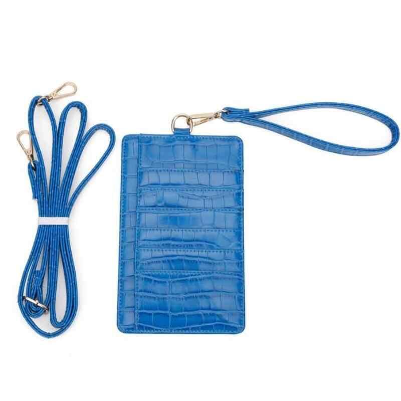 Moda Hakiki Deri Cep kart tutucu Python Desen Deri Çantası Omuz Crossbody Çanta Timsah Cep kart çantası