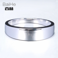 BAIHE Sterling Silver 925 fashion Wedding Anniversary Party Men Trendy Fine Jewelry Elegant unique Ring