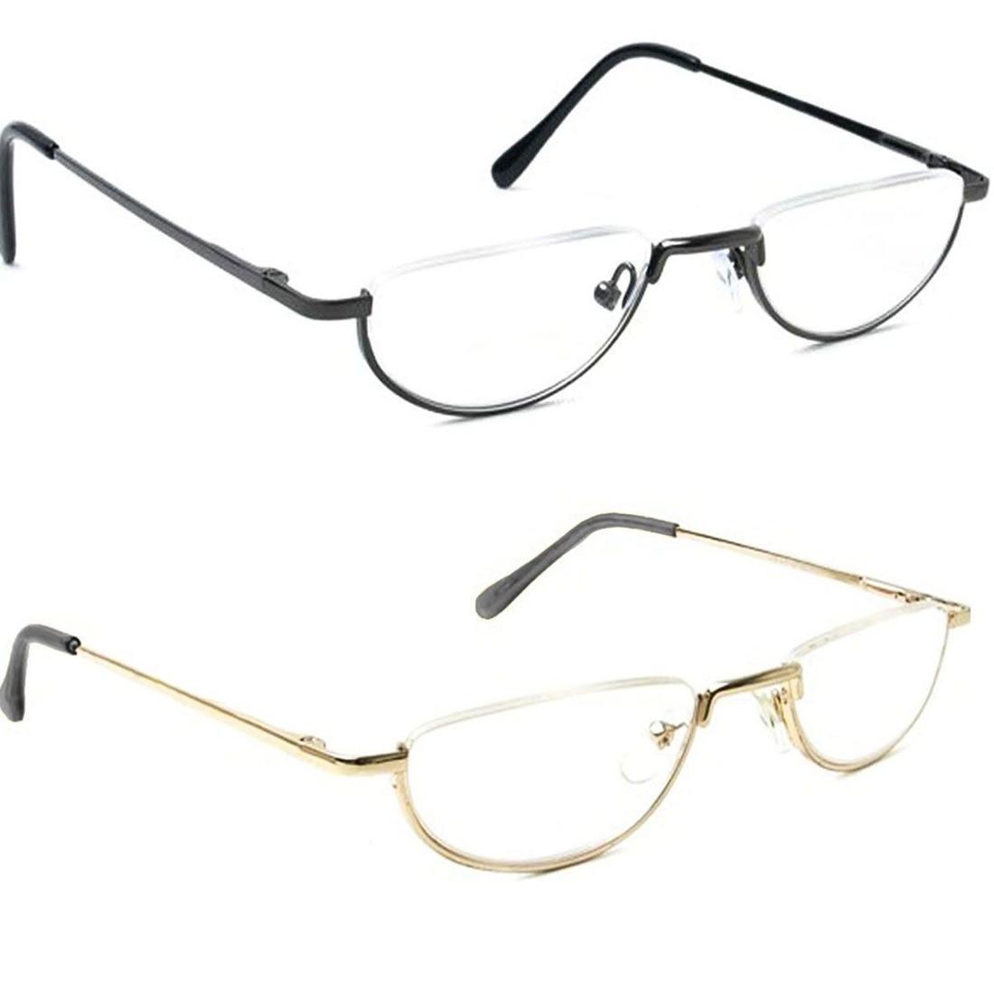 d2c49ed4bfb67 Agstum Meia Lua Dobradiça de Mola Óculos Das Mulheres Dos Homens Do Vintage  Óculos de Leitura
