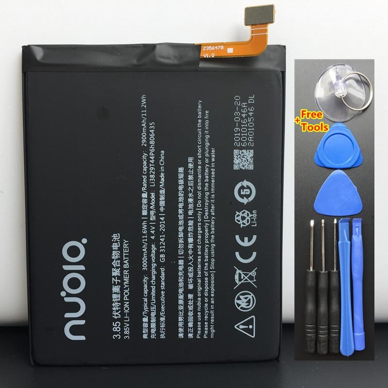 100% nouveau 3000 mAh Li3829T44P6h806435 pour ZTE Nubia Z11 NX531J M2 Lite M2 édition jeunesse M2 Play NX907J batterie + outils cadeau