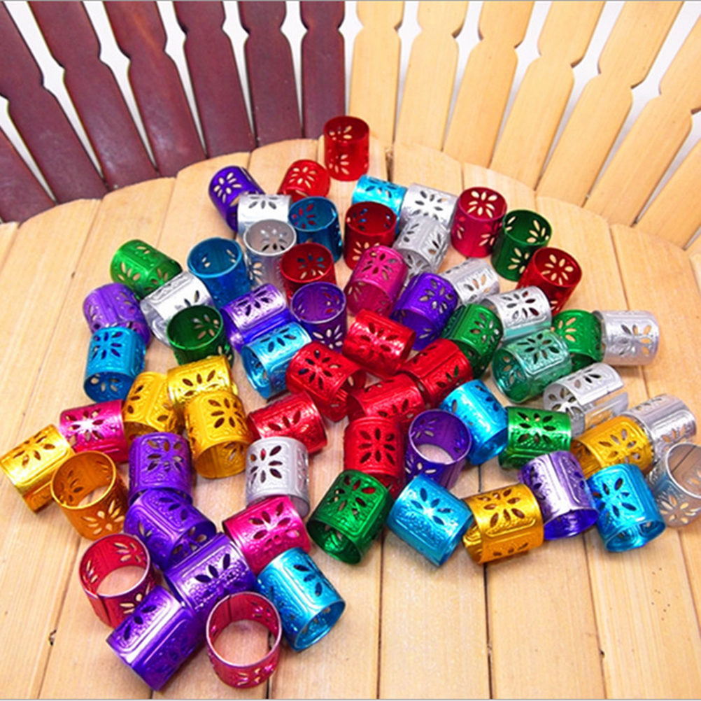 100 Pcs Hair Dread Braids Dreadlock Bead Adjustable Cuff Clip approx 10mm hole Micro Rin ...