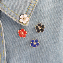 Kartun 5 Warna Mini Cherry Bunga Bros Gaya Sederhana Enamel Pin Bros Denim Jaket Kerah Lencana Pin Tombol Fashion Perhiasan(China)