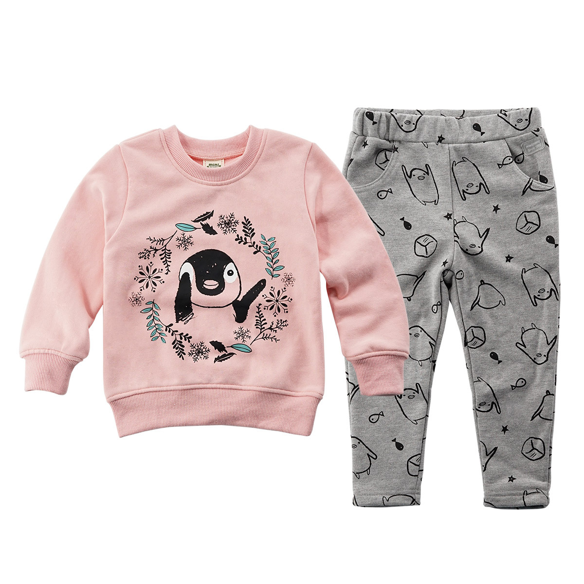 baby Winter Suit Penguin style Boys and Girls Cotton clothes Warm Sport Sweater sutumn baby clothes baby boy style outfit dress baby girl clothes baby winter suit spring and autumn warm baby boy clothes newborn fashion cotton clothes two sets of underwear
