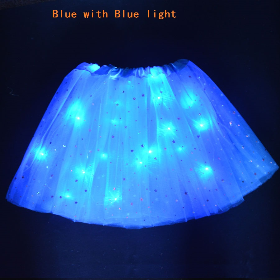 Gelentea LED Dancing Skirt Magic Light Princess Dancing Tutu Skirt Luminous Christmas Party Stage Tulle Ballet Children Girl