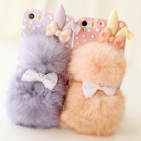 YES It S A Plush Rabbit Balls Mobile Phone Case Protective Case For Iphone 5 5S
