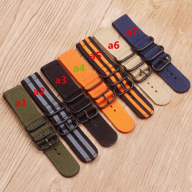 Watch accessories Nylon watch belt NATO thickening soft Waterproof and sweat-proof not stab hands 24 MM Men Women's watch belt