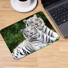 Yuzuoan Fashion White tiger laptop anime Lock Edge mouse pad notbook