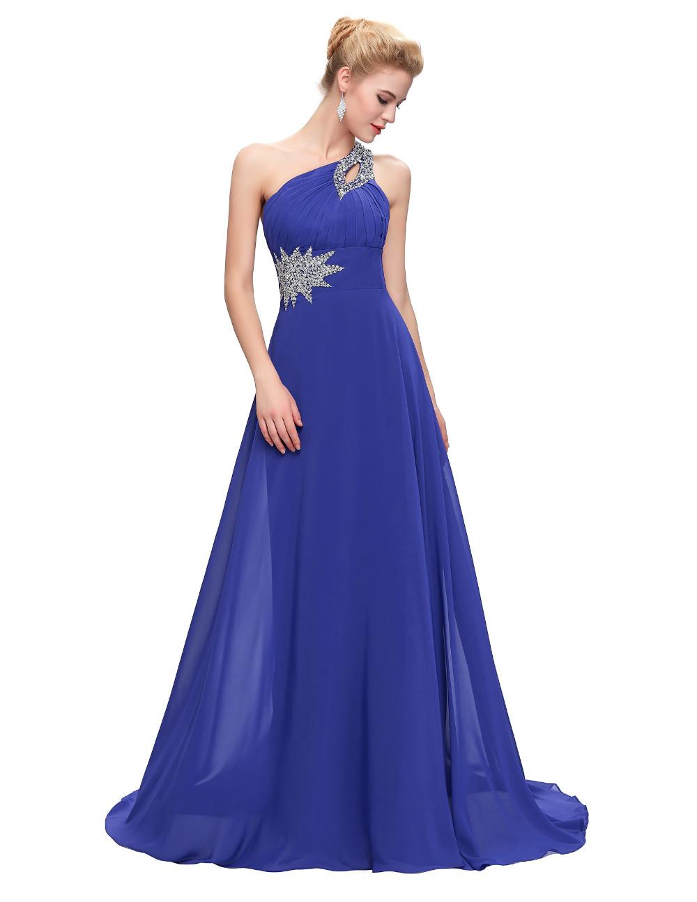 Elegant One Shoulder Long Bridesmaid Dress 6