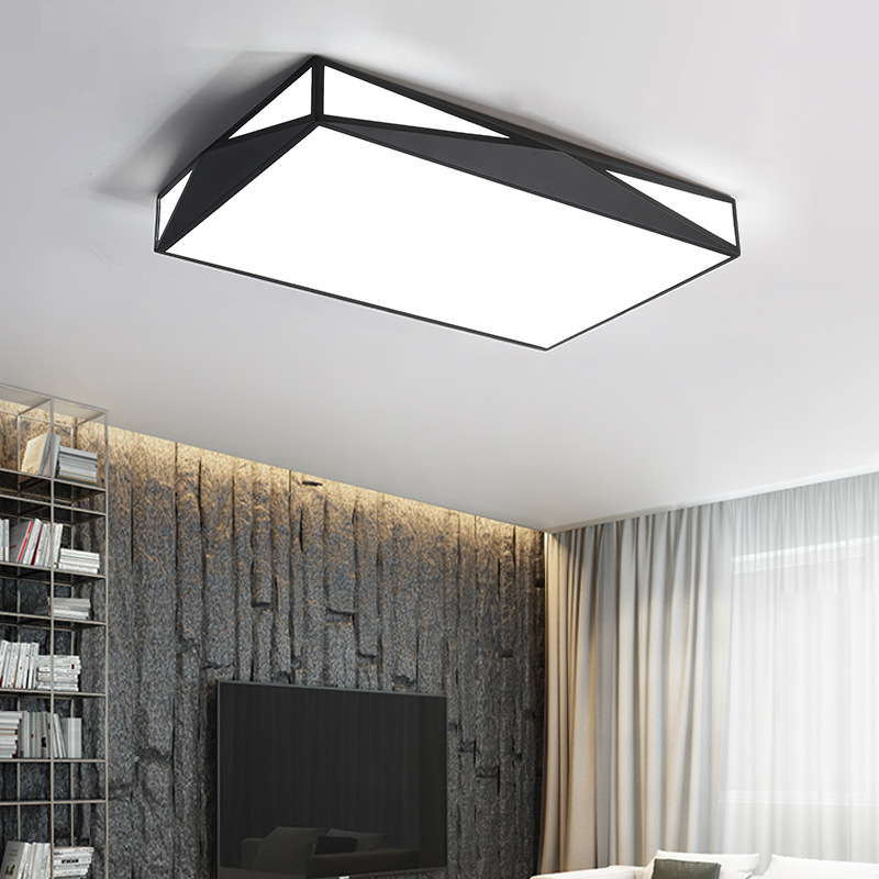 White Black LED ceiling lighting ceiling lamps for the living room chandeliers Ceiling for the hall modern ceiling lamp modern ceiling lamp contemporary acryl creative lighting simple design white black luminaire ac for living room hall foyer light