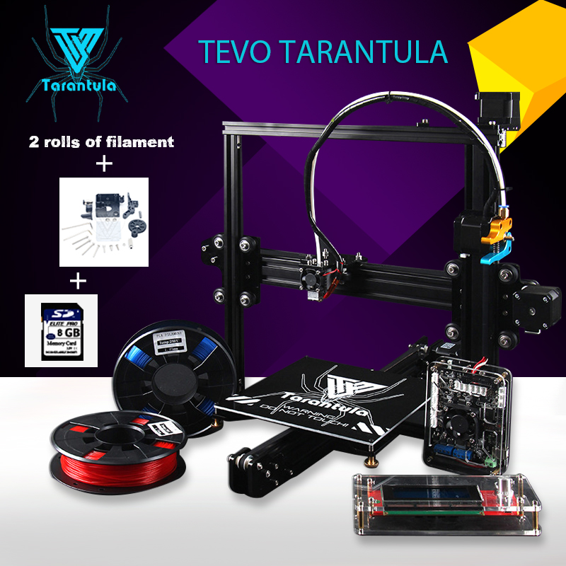 2017 Imprimante TEVO Tarantula I3 Single/Dual Extruder 3D Printer kit DIY  Aluminum reprap prusa I3 2 Rolls Filament As Gift 2017 newest tevo tarantula prusa i3 3d printer diy kit