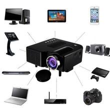 Portable 1080P Full HD Mini Projector Home Theater Cinema AV VGA USB HDMI Home Entertainment Device Multimedia Player