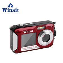Winait Waterproof Video Recorder DC-16 Full HD 1080p Digital Cameras 24mp Photographing 16x Digital Zoom Dual Screen Fotografia
