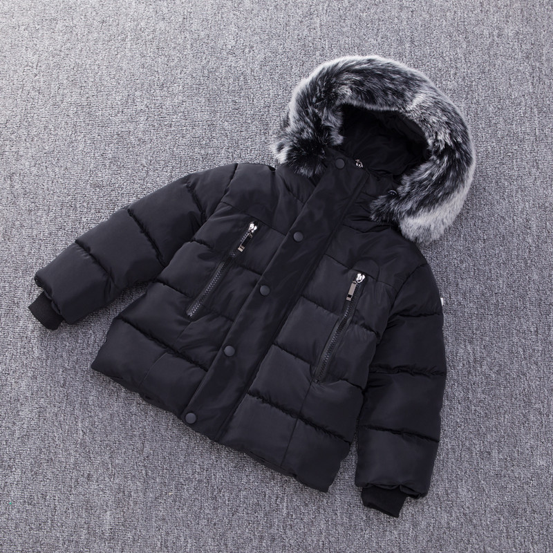 Image 2 - Fashion Autumn Winter Jacket For Boys Children Jacket Kids Hooded Warm Outerwear Coat For Boy Clothes 2 7 Year Baby Boys Jacket-in Down & Parkas from Mother & Kids