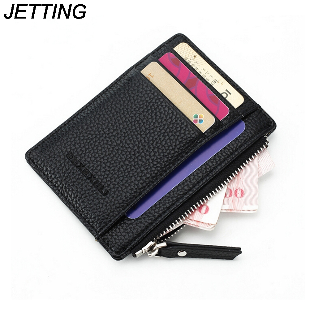 JETTING Quality Assurance Soft Leather Money Clip With Zipper Coin Pocket font b Slim b font