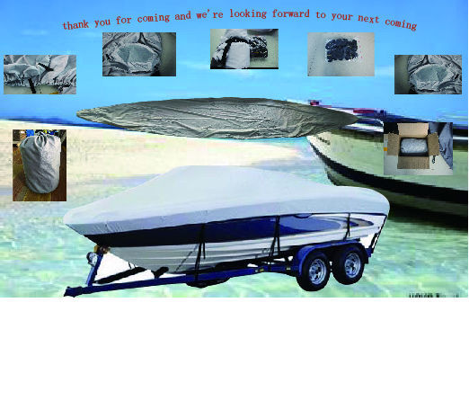 "210D PU Coated  Heavy Duty Trailerable Boat Cover,10'-12'X68"",Classic Accessories,High Quality Waterproof Boat Cover"