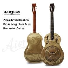 Havajų medis Palms Vintage Bell bronzos kūno rezonatoriaus gitara su nemokama gitara dėklas ir dirželis