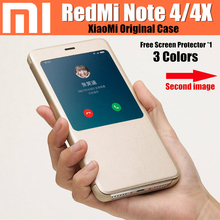 Xiaomi Redmi Note 4 чехол оригинальный 100% от Xiaomi Смарт откидная крышка для Xiaomi Redmi Note 4 глобальная версия случае Redmi Note 4 x