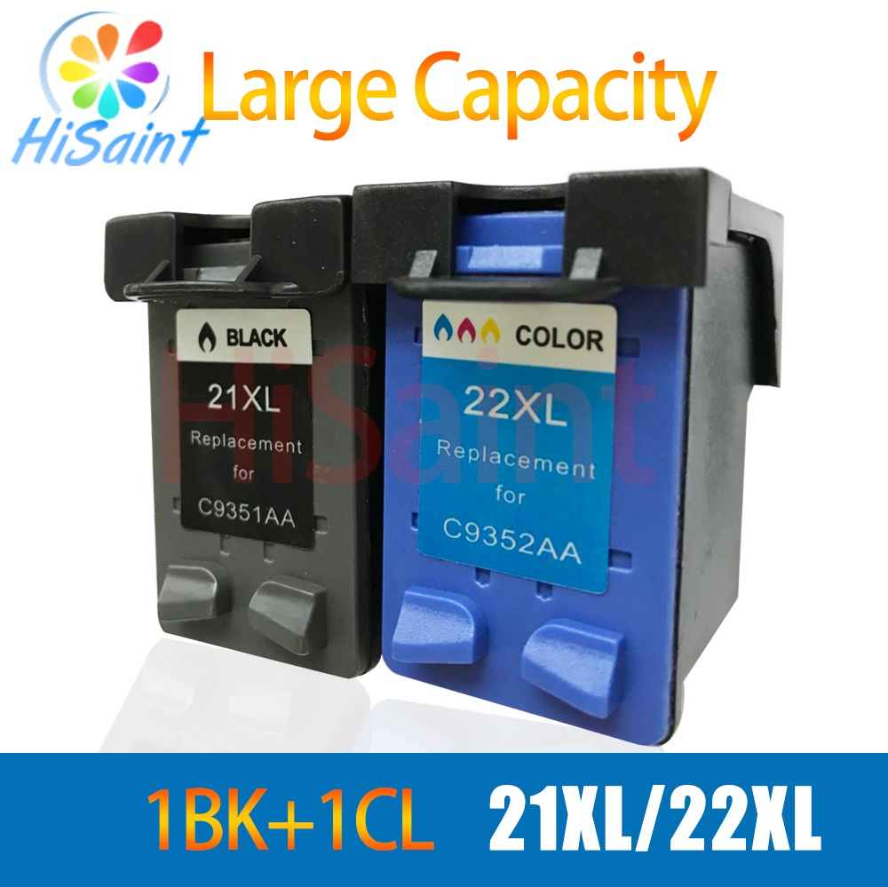 hisaint For HP 21 22 For hp21 22 XL Ink Cartridge For DESKJET 3910 3920 3930 3940 D1311 D1320 D1330 D1341 D1360 printer for hp21 22 printer ink href