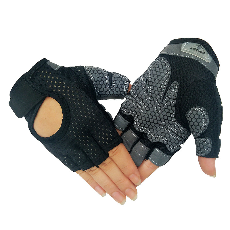 2 Pieces Professional Gym Fitness Gloves Power Weight Lifting Women Men Crossfit Workout Bodybuilding Half Finger Hand Protector