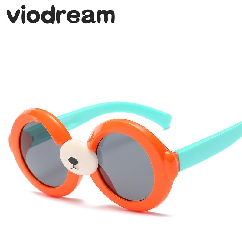 ff552968ddd Viodream New Cute Bear Out door Children Polarizer Sunglasses Round Plastic  Titanium Girls Polaroid Sun Glasses oculos de sol-in Sunglasses from Mother  ...