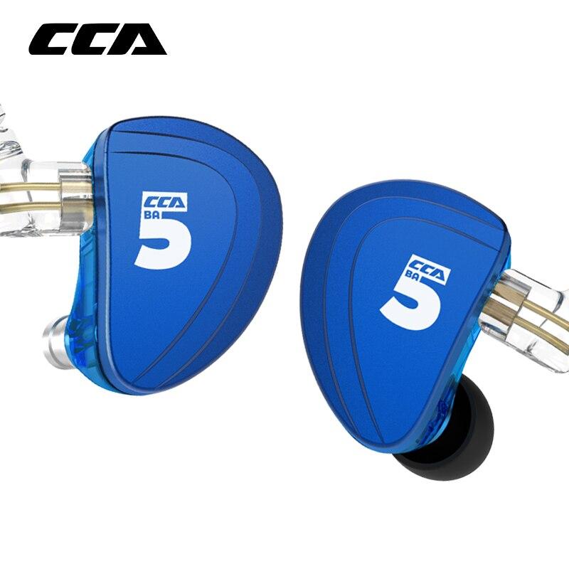 CCA A10 5BA jednostki napędowe w ucho słuchawka 5 wyważone armatura zestaw słuchawkowy hi fi z odpinanym 2PIN kabel CCA C16 ZSX AS10 AS06 AS16 w Słuchawki douszne i nauszne od Elektronika użytkowa na  Grupa 1