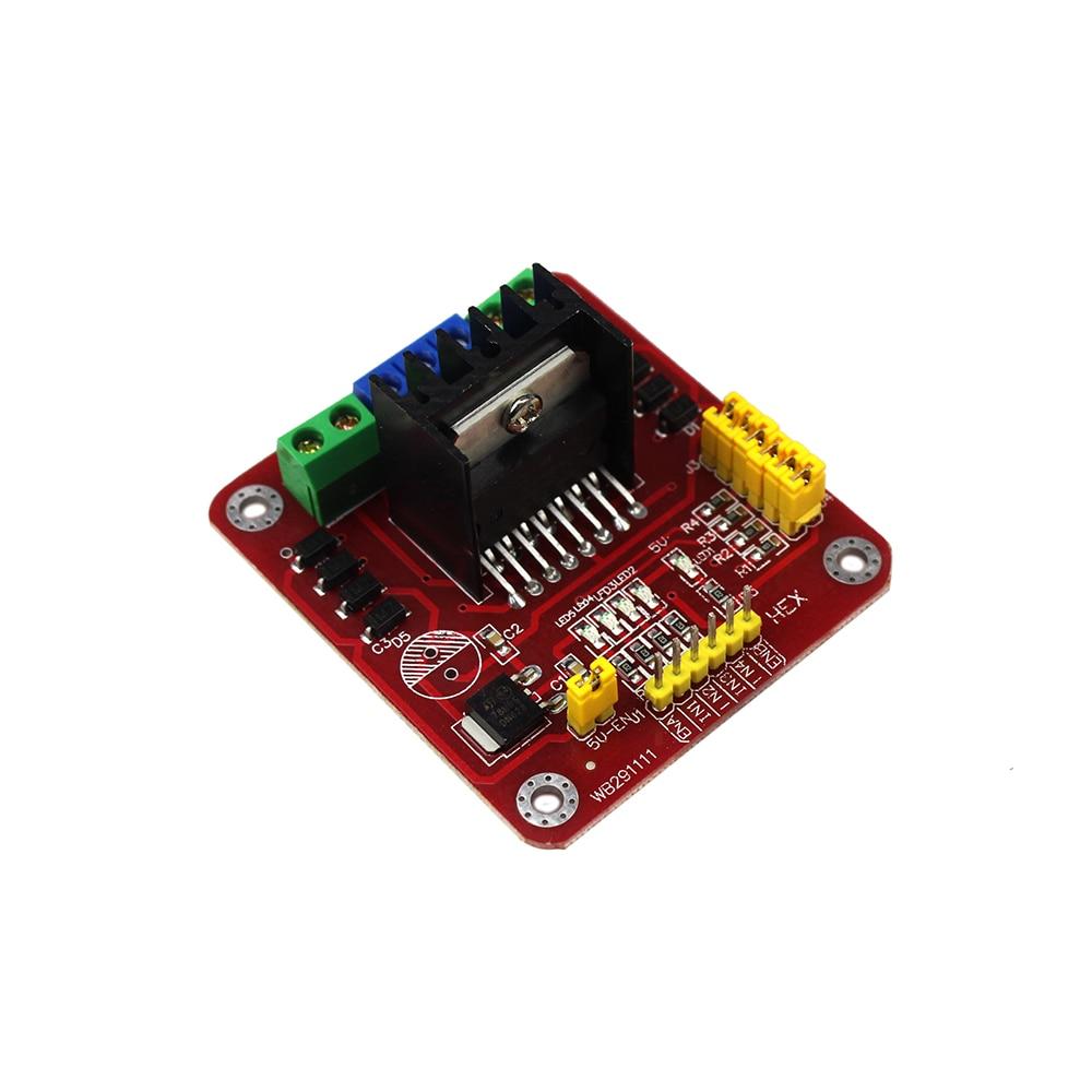 Smart Electronics L298 Module L298N Dual Bridge DC Stepper Motor Driver Shield Expansion Controller Board for arduino DIY Kit expansion module elc md204l text panel