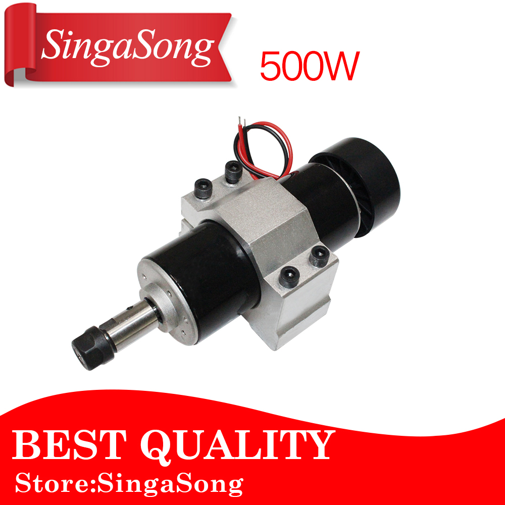 Free shipping 500W ER11 collet 52mm diameter DC motor 0-100V CNC Carving Milling Air cold Spindle Motor For PCB Milling Machine free shipping 500w er11 collet 52mm diameter dc motor 0 100v cnc carving milling air cold spindle motor for pcb milling machine
