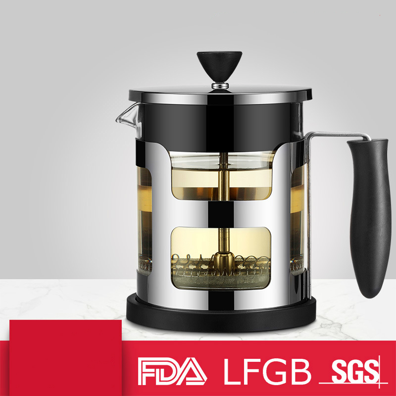 Kitchen,dining & Bar Home & Garden Loulong Alibaba Top Brand French Press 304 Stainless Steels Kettle Teapot Household Office Top Grade Safety Coffee Tea Filter Buy One Give One